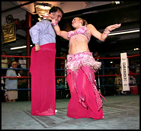 Belly Dancer and Referee